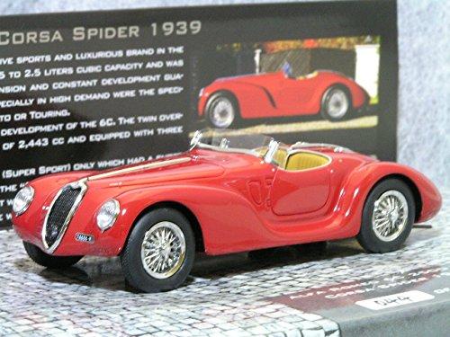 ミニチャンプス 1/43 アルファ ロメオ 6C 2500 スーパー スポーツ コルサ スパイダー 1939 / レッド