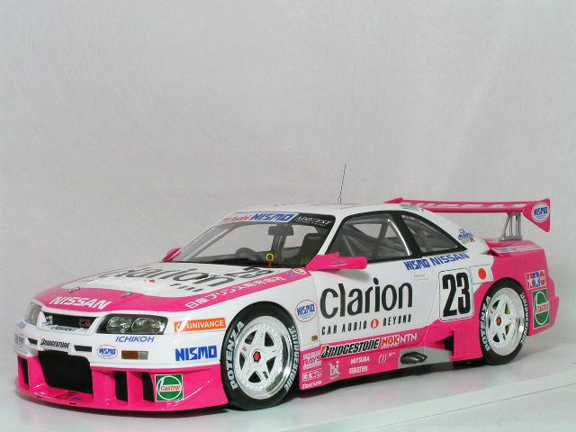 スカイライン 長谷見 / / クラリオン 鈴木 ( 1/18 星野 ニスモ R33 Model GT-R TSM / 1996年 #23 LM ) ル・マン24時間