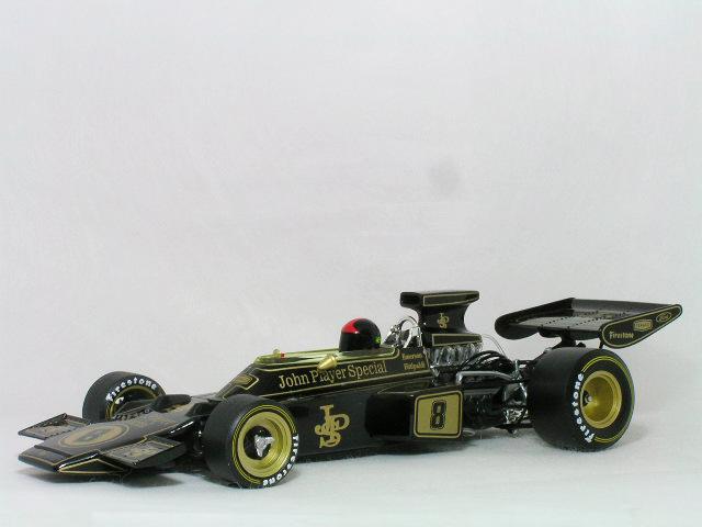 カルッツオ 1/18 ロータス 72D ジョン・プレイヤー・スペシャル / エマーソン・フィッティパルディー、1972年 ブリティッシュ GP 優勝車