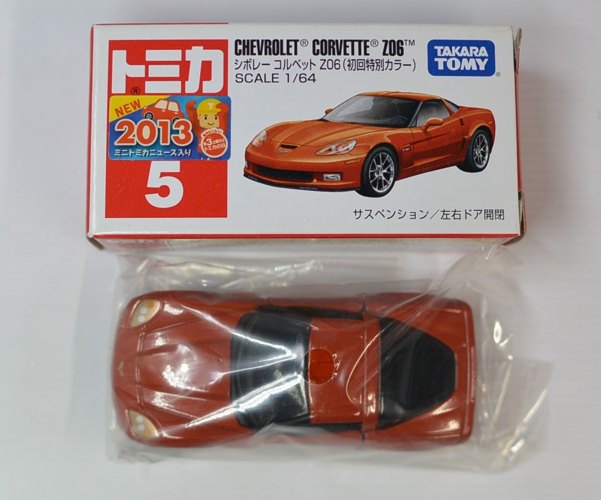 Box TAKARA TOMY Tomica No.5 Chevrolet Corvette Z06