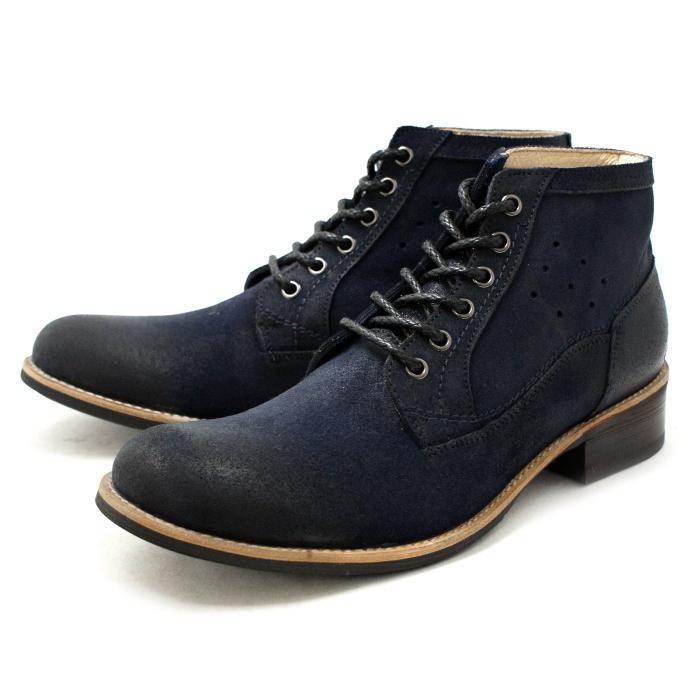 ●● ラウディ ブーツ 靴 カジュアル RAUDI チャッカブーツ R52203 〔ネイビー〕 メンズ 男性用 靴 通販 men's boots CHUKKA BOOTS 2015SS 【あす楽対応】:MiniMonkey スニーカー&ブーツ