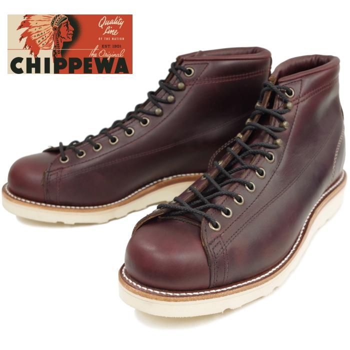 【SALE:50%OFF】 チペワ ブーツ CHIPPEWA 1901G38 5-inch Two-tone Bridgeman [Cordovan] ツートン ブリッジマン 正規品 保証書付 メンズ ワークブーツ アメリカ製 送料無料 【あす楽対応】