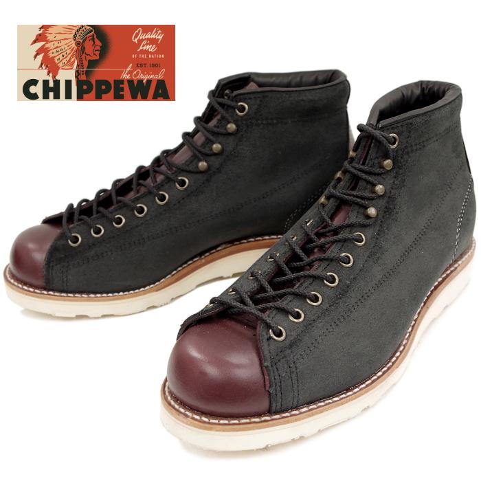 チペワ ブーツ CHIPPEWA 1901M81 5-inch Two-tone Bridgeman [Black/Cordovan] ツートン ブリッジマン 正規品 保証書付 ワークブーツ メンズ アメリカ製 送料無料