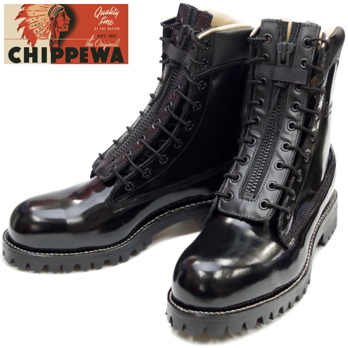 チペワ CHIPPEWA 27422BLK 8-inch EPS Steel Toe Boots レースアップ ブーツ ファイアーマン 正規品 保証書付 スチールトゥ メンズ ワークブーツ MADE IN USA アメリカ製 送料無料 2017秋冬新作