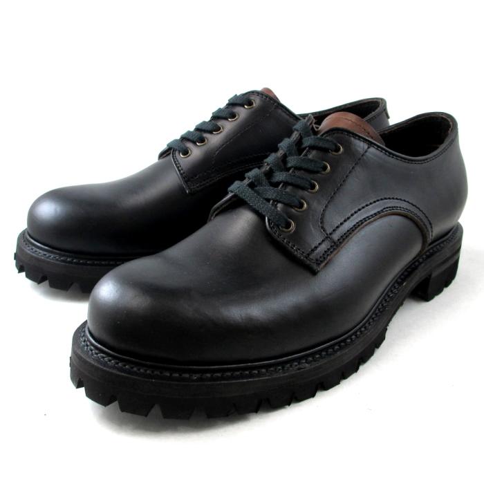 ●● グラニスタ Guranisuta ハイライン プレーントゥ PLAIN TOE ホーウィン クロームエクセル KI3227 〔ブラック/ブラウン〕 男性用 靴 men's