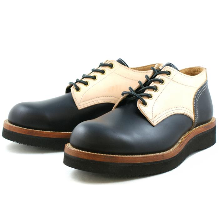 Locking Shoes ロッキングシューズ by FootMonkey フットモンキー 5HOLE OXFORD SHOES 1015 日本製 本革 メンズ 5ホール オックスフォードシューズ ブラック×ナチュラルスムース 送料無料【Recommend】