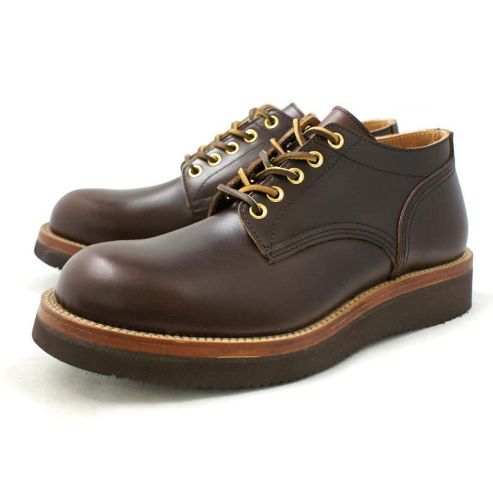 Locking Shoes ロッキングシューズ by FootMonkey フットモンキー 5HOLE OXFORD SHOES 1015 日本製 本革 メンズ 5ホール オックスフォードシューズ ブラウンムース 送料無料