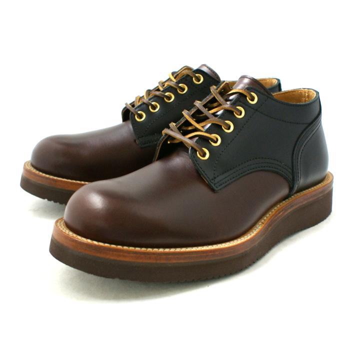 Locking Shoes ロッキングシューズ by FootMonkey フットモンキー 5HOLE OXFORD SHOES 1015 5ホール オックスフォードシューズ ブラウンスムース×ブラックスムース 送料無料