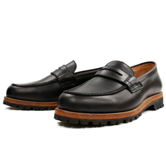 Locking Shoes ロッキングシューズ by FootMonkey フットモンキー ローファー PENNY LOAFER 1028 (ブラック) ビブラムモンターニャソール カジュアルシューズ メンズ 革靴 本革 日本製 送料無料 men's shoes