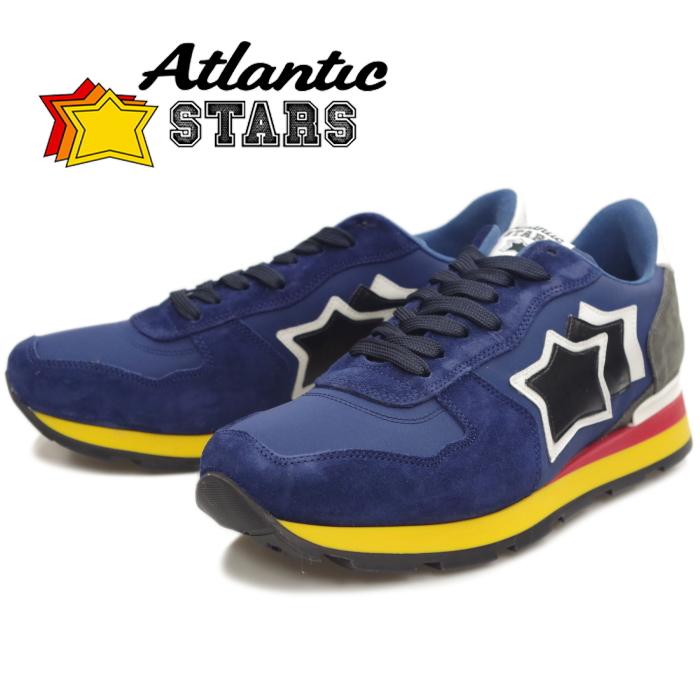 【SALE:20%OFF】 Atlantic STARS アトランティックスターズ メンズ スニーカー ANTARES アンタレス BLUE/GRAY 89B レザー カジュアル シューズ ローカット 靴 men's sneaker 送料無料 2019秋冬新作 【あす楽対応】