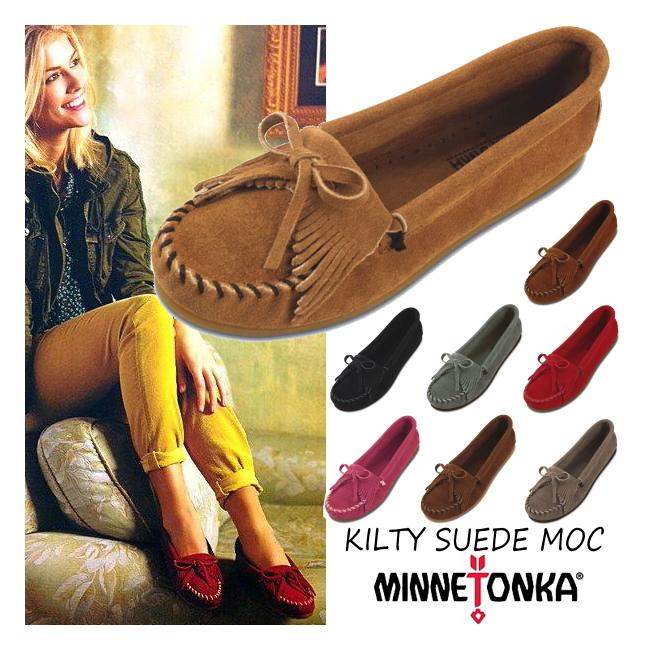 ミネトンカ モカシン 正規品 MINNETONKA KILTY SUEDE MOC キルティ スエード モック レディース モカシンシューズ スウェード 女性用 靴 ladies moccasin shoes 送料無料