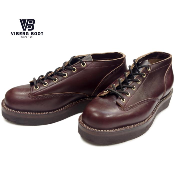 ヴァイバーグ VIBERG LACE TO TOE OXFORD バーガンディークロムエクセル ワークブーツ 本革 メンズ オックスフォード ヴィバーグ ビバーグ カナダ製 送料無料 【あす楽対応】