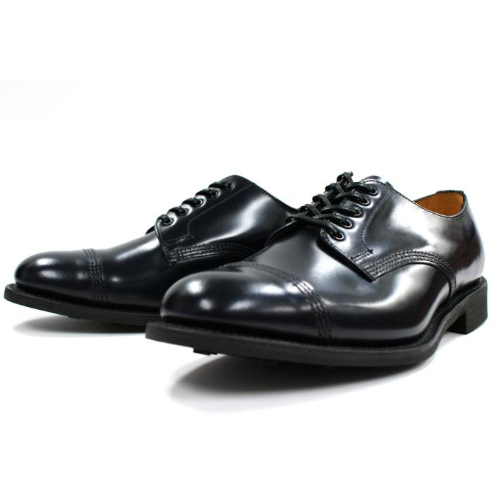 ●● サンダース 靴 ミリタリーダービー SANDERS 1128 MILITARY DERBY SHOE 【ネイビー】 ビジネスシューズ ストレートチップ メンズ 送料無料 2015FW