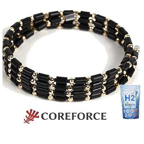 コアフォースループ ゴールドK18 70cm (水素入浴料H2バブル700g×1個プレゼント)
