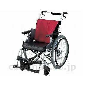 車椅子(自走式) ワインレッド 座王 座幅42cm<日進医療器> NA-501A