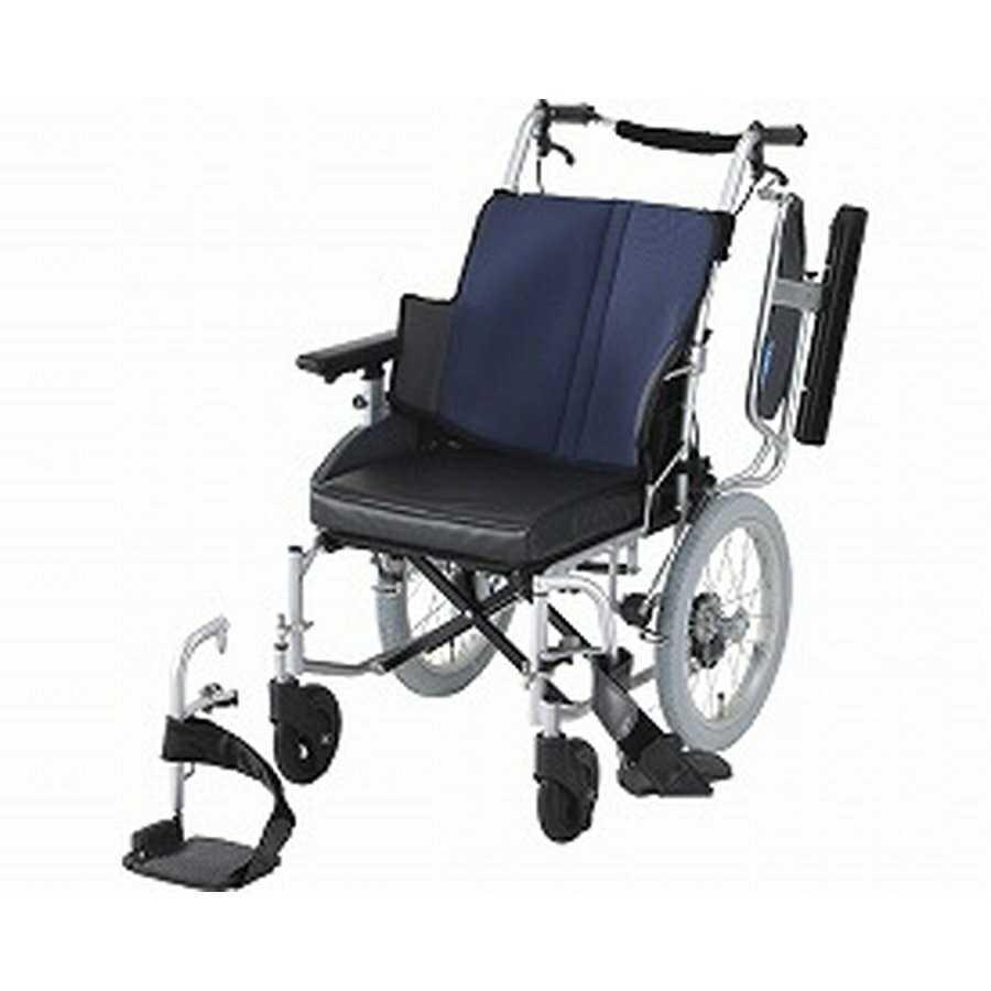 消費税無し 車椅子(介助式) 座王 NAH-521W 座幅40cm グレイッシュブルー<日進医療器>, WARP WEB SHOP ab543b72