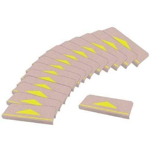折り曲げ付階段マット(15枚入)/KD-80 ベージュ 三角マーク付<サンコー>