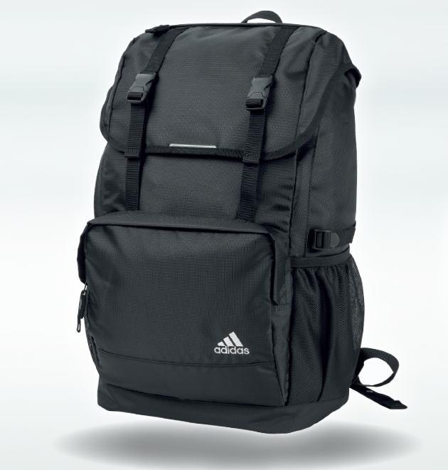 【トートバッグプレゼント】adidas アディダス フラップトップデイパック(リュック・スクールバッグ)スクールリュック/大容量をスマートに収納/バッグ/30L/丈夫/部活/通学鞄/通学バッグ/学生/高校生/中学生/ブラック/YC59035