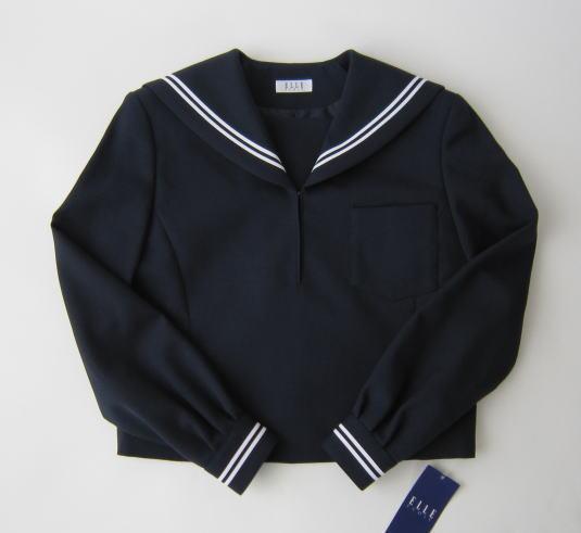 【B体】セーラー服上衣 (紺・2本ライン)エル・エコール ELLE ECOLEウール50%/ポリエステル50%