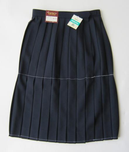 スカート・紺色(セーラー服上衣別売り) KANKO カンコーウール50%/ポリエステル50%