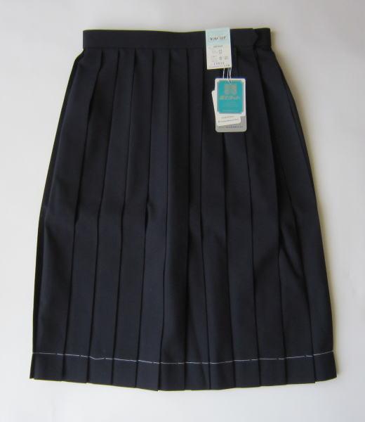 【夏用】スクールスカート・紺 (サマースカート) 富士ヨット学生服