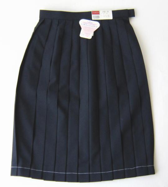 夏用スカート(紺) トンボ裏綿スカート 制服 ポリエステル90% ウール10%