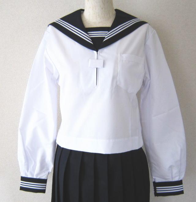 夏用 長袖セーラー服上衣 (紺・3本ライン)ミッシェルクランスコレール
