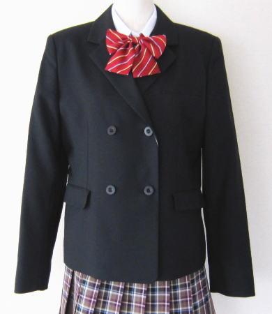 スクールブレザー 黒 制服 ダブルジャケット ミッシェルクランスコレール (尾崎商事 カンコー)