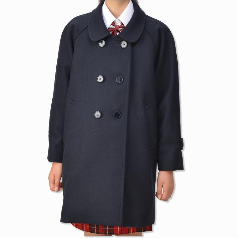 子供ラグランコート(キッズ・ジュニアサイズ)ジュニアスクールコート/通学/制服/スクールコート/ネイビー/男女兼用/男子/女子