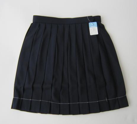 KURI-ORI スクールスカートクリオリ 紺無地プリーツスカート
