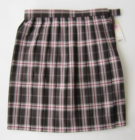 スクールスカート(ブラウン×ピンク)BE STELLA ビーステラ