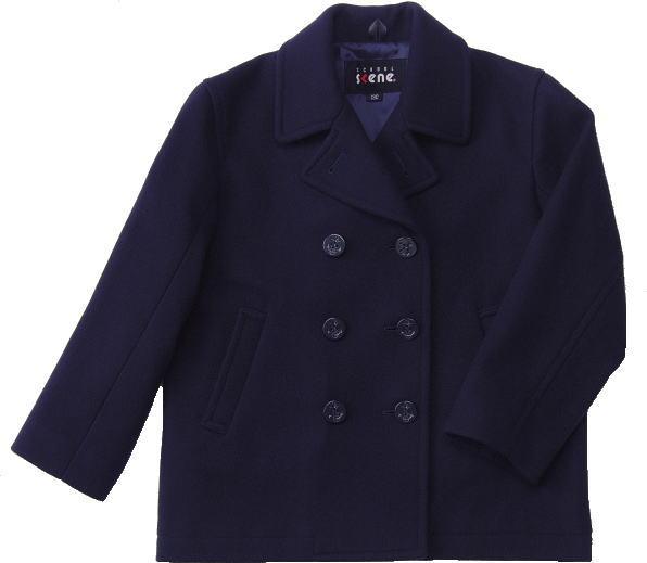ピーコート(キッズ・ジュニアサイズ)【男女兼用】 スクールコート/男子/女子/制服通学コート