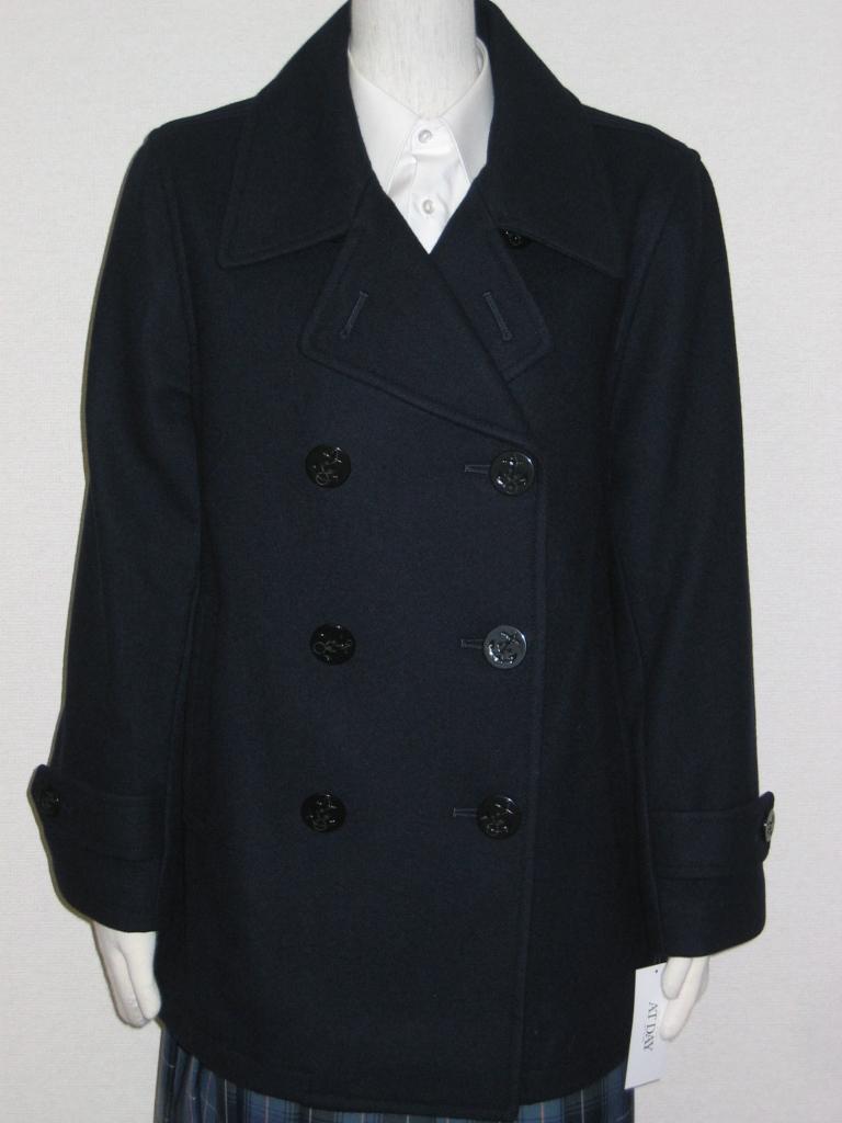 スタンダードPコート 紺 S~4L 【男女兼用】スクール 学生 コート P-001