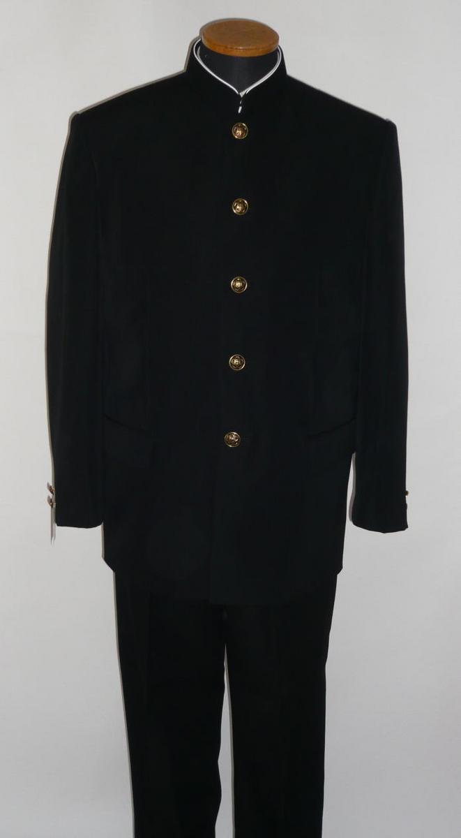 【送料無料】富士ヨット学生服・ナノウェイブ(詰襟上衣)レギュラーカラー/ラウンドパーマカラーウール50%。ポリエステル50% 150A~170A