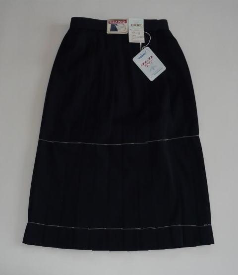 紺スカート(ウール15%) 車ヒダ24本 8520富士ヨット学生服 セーラー服