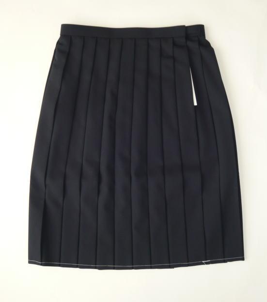 夏用スカート(紺) ミッシェルクランスコレールウール50%/ポリエステル50%
