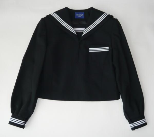 セーラー服上衣(黒・3本ライン)ミッシェルクランスコレールウール50%/ポリエステル50%