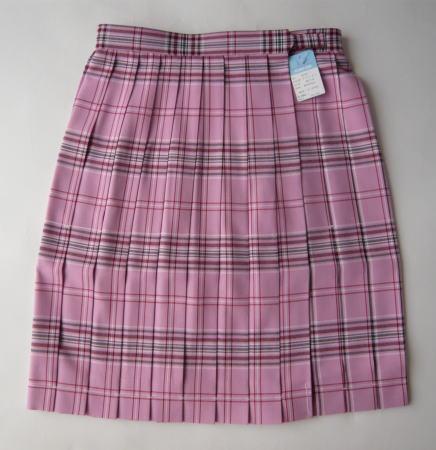 KURI-ORI スクールスカート 48cm丈 プリティピンククリオリ チェックプリーツスカート