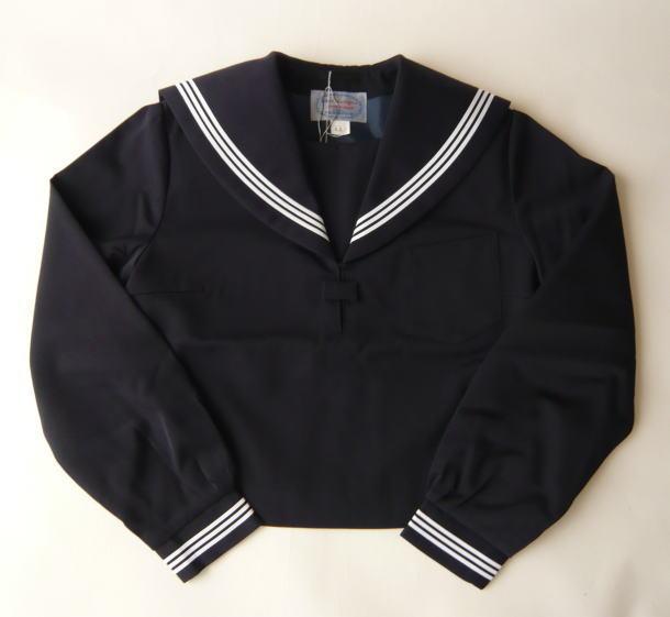 セーラー服上衣(紺・3本ライン)富士ヨット学生服ウール15%・ポリエステル85%