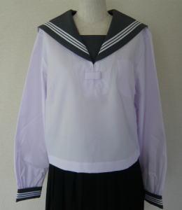 白セーラー服 グレー衿<BR>KURI-ORI クリオリ