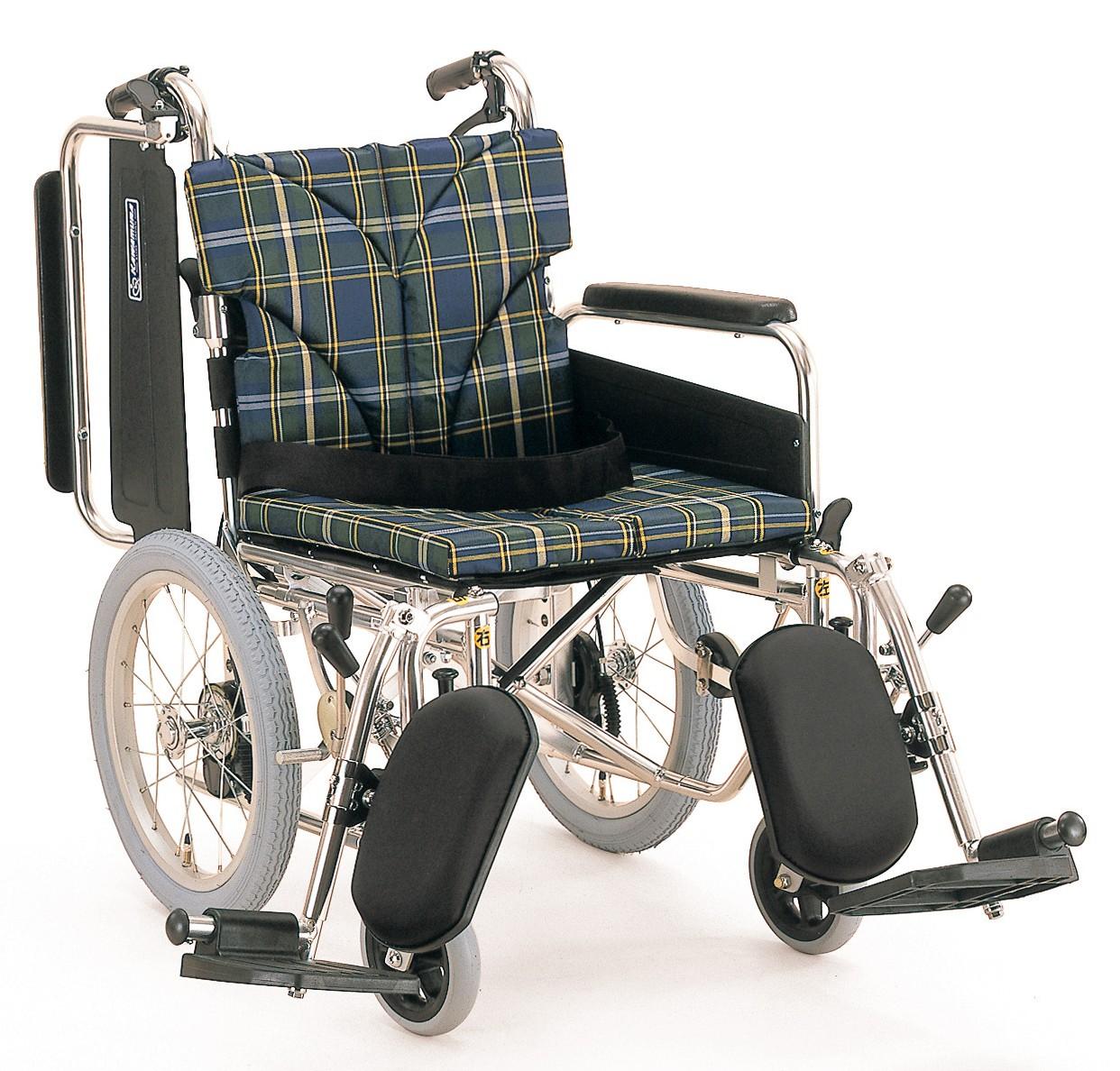 カワムラサイクルKA816-40(38・42)ELB-中床M(低床LO/超低床SL)介助用脚部エレベーティング車椅子
