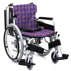 カワムラサイクルKA822-40(38・42)B-高床H(中床M/低床LO)自走用脚部スウィングイン・アウト車椅子