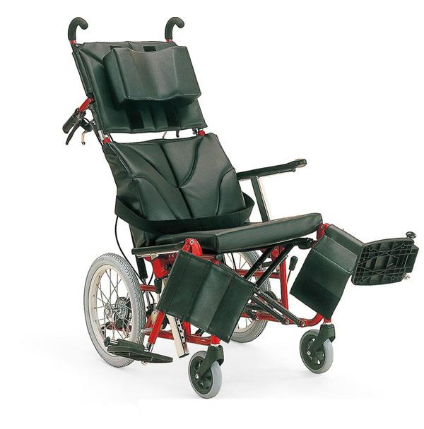 カワムラサイクルKPF16-40(42) 前輪アブソレックス仕様アルミ製ティルト・リクライニング車いす(高床)[35%OFF][送料無料][メーカー直送]
