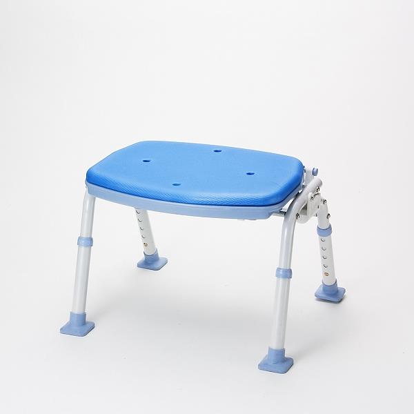 折りたたみシャワーベンチ ソフテックSBF-12BL(背無しタイプ)[30%OFF][送料無料][代引き不可][入浴用いす][ソフトパッド][マキライフテック]