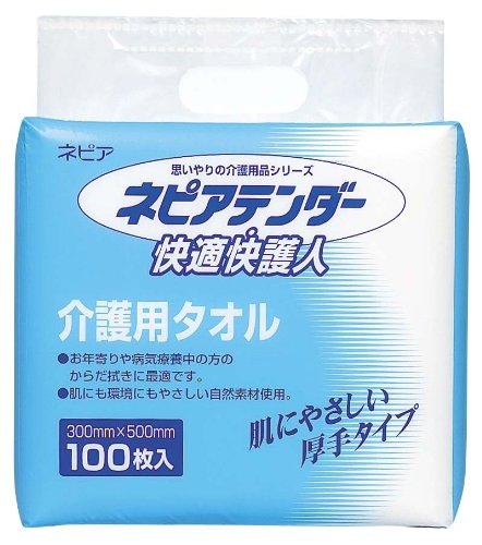 ネピアテンダー 介護用タオル(1袋100枚入)6袋/ケース×5ケース(30袋入り業務用パック)