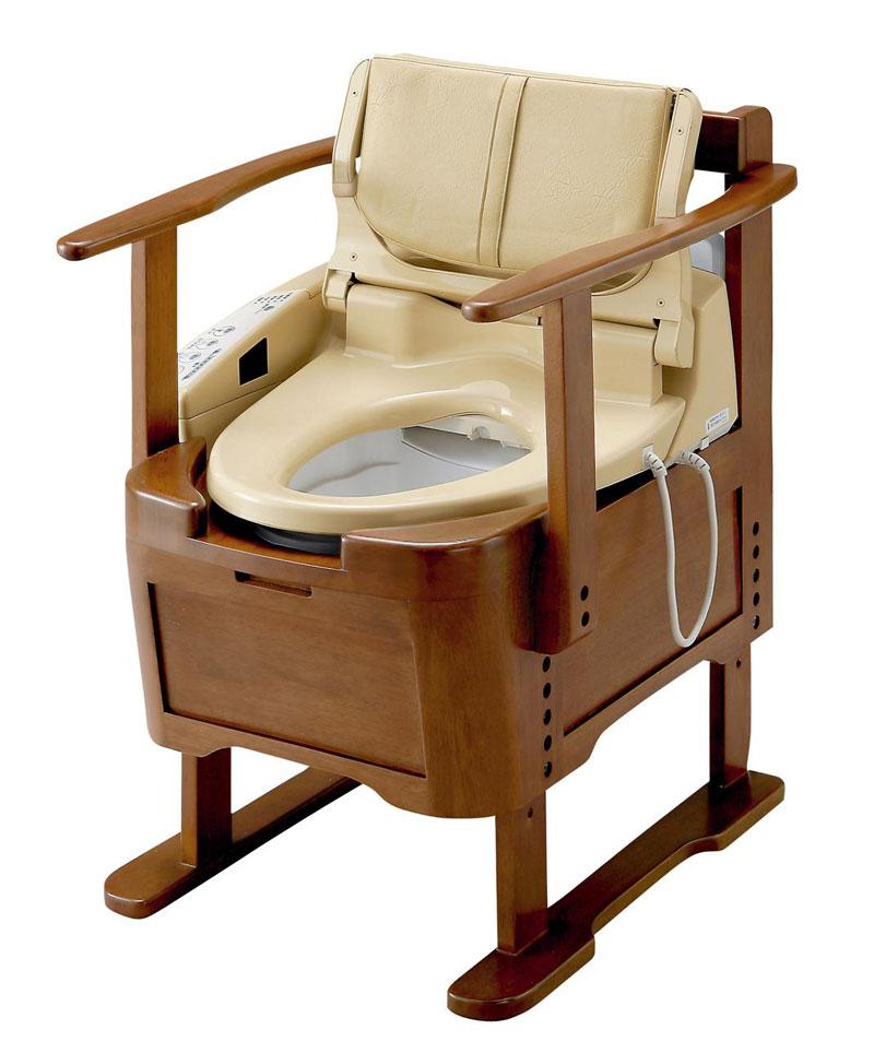 TOTO ウォシュレット付ポータブルトイレ(EWRS290)リモコン付き[30%OFF][代引き不可][家具調トイレ][温水シャワー][暖房便座][パワー脱臭]