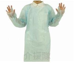 ディスポガウン 親指フックタイプ(12箱セット)[介護][看護][袖付き][使い捨て]