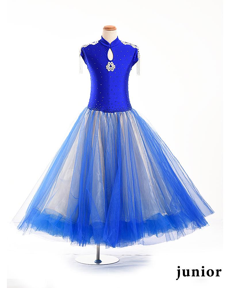【展示、在庫品】 ジュニア140~150cm オリジナル 社交ダンス 競技ダンス ドレス モダン スタンダード ジュニア ジュブナイル