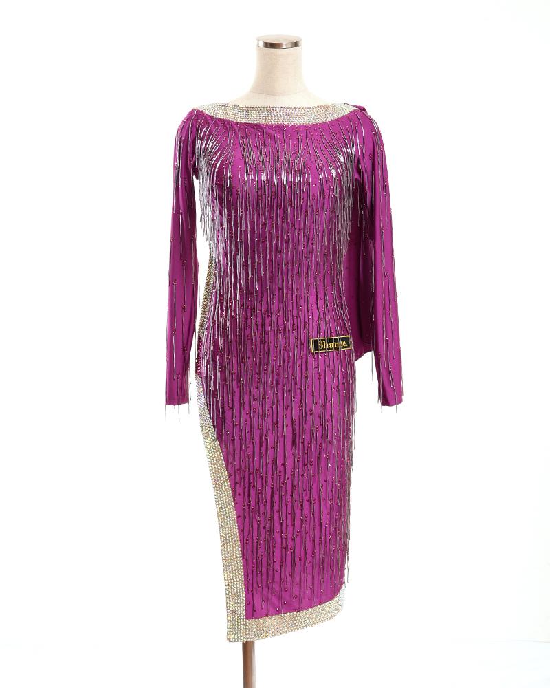 競技ダンス 社交ダンス ラテン ドレス ウエア ワンピース レディース ダンスドレス ダンス衣装 パーティドレス セレブ 高級ドレス パーティ