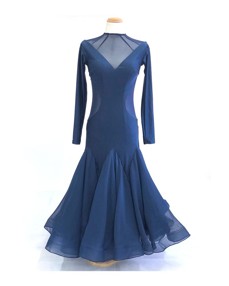 【展示、在庫品】9号Mサイズ 社交ダンス ドレス スタンダード ドレス ウエア レディース